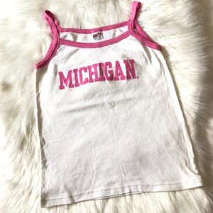 Soffe Michigan Tank Top with Pink Piping, Size XL